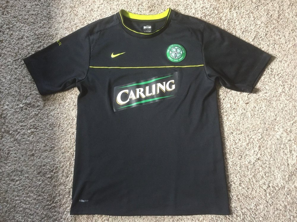 size 40 10af3 40341 Nike Dri-Fit Carling Celtic Football Club Jersey Black Sz Mens M Soccer  Football