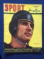 Johnny Lujack Notre Dame signed Sport Magazine Autographed Chicago Bears