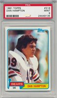 1981 Dan Hampton PSA 9 - Topps # 316 Rookie Card RC - '85 Bears HOF Set Registry