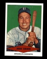 1954 Red Heart Reprint 29 Duke Snider Brooklyn Dodgers Baseball Card Deans Cards 8 Nmmt