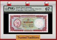 5 Shillings 1966 Somalia 5 Scellini = Pmg 67 Epq Superb Finest Known!