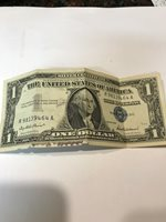 1957 $1 One Dollar Silver Certificate Blue Seal Average Circulated Condition