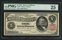 "FR267 1891 $5 ""GRANT"" SILVER CERTIFICATE -- PMG VF 25 -- WLM5564"