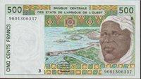 500 Francs Banknote 1997 West Africa States-benin