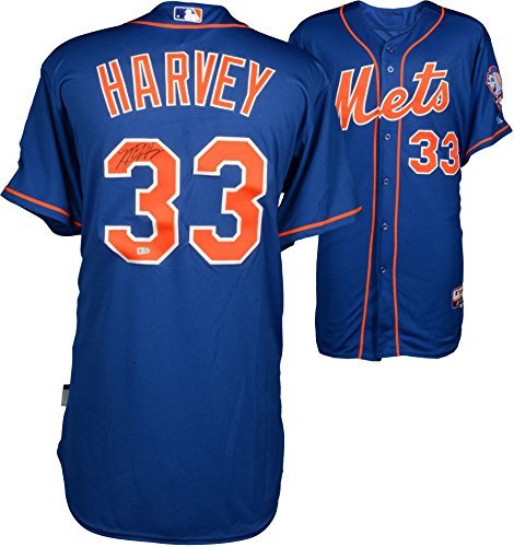 huge selection of 52c2c f2b80 Matt Harvey New York Mets Autographed Blue Authentic Jersey - Autographed  MLB Jerseys