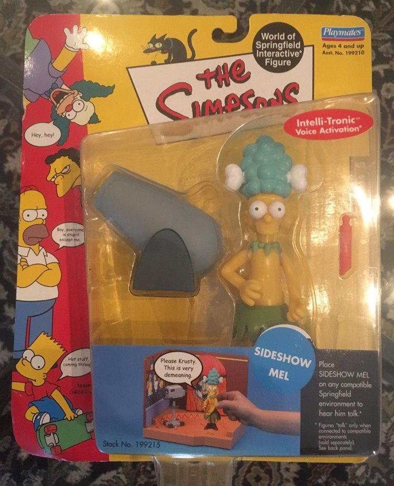 The Simpsons World Of Springfield Sideshow Mel Figure NIB New Playmates