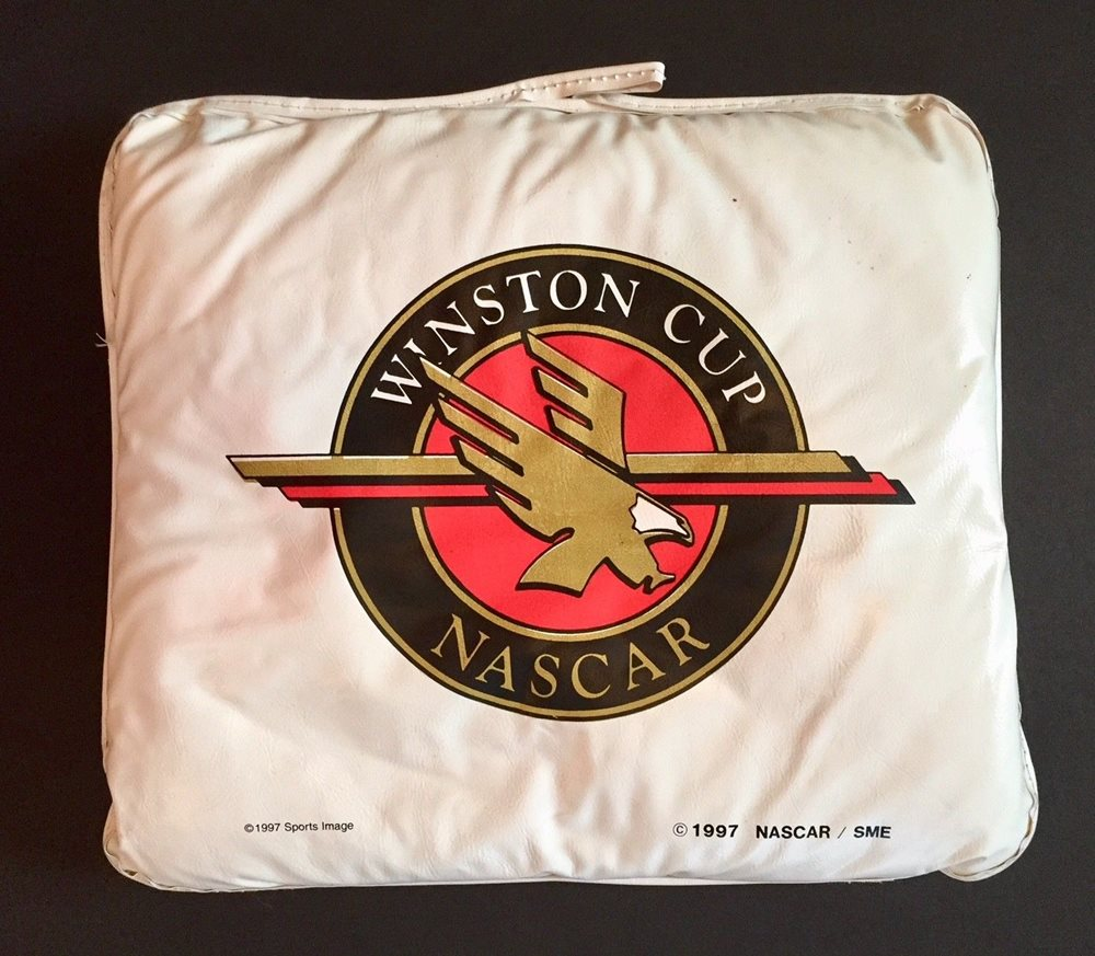 vintage 90 s nascar winston cup series seat cushion