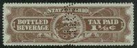SRS OH B18S 1934 1 1/2c brown (2) perfin Specimen, VF