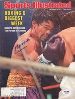 Roberto Duran Signed Magazine Cover - PSA/DNA Authenticated - Autographed Boxing Merchandise