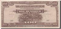 100 Dollars 1942-1945 Malaya Banknote, 1944, Km:m9