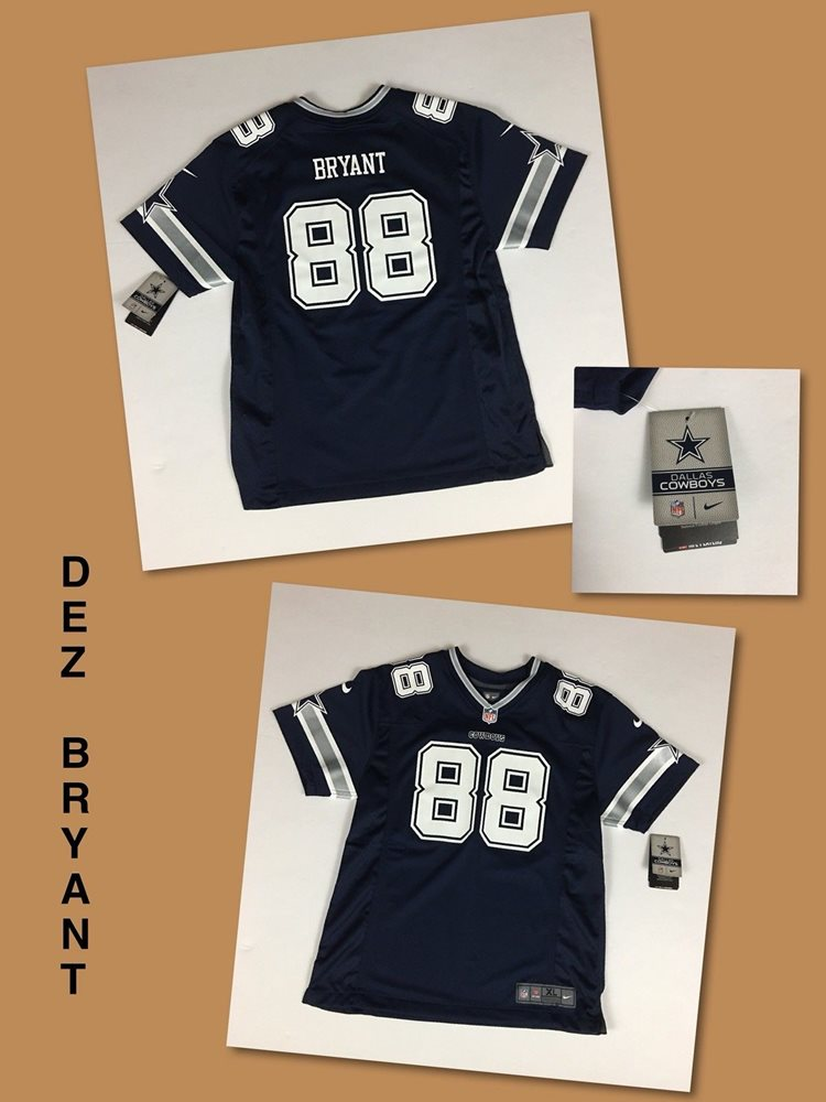Nwt Kids Dez Bryant Dallas Cowboys Navy Nike On Field Youth Jersey Multiple Size