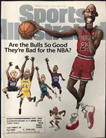Michael Jordan Unsigned Sports Illustrated March 10 1997