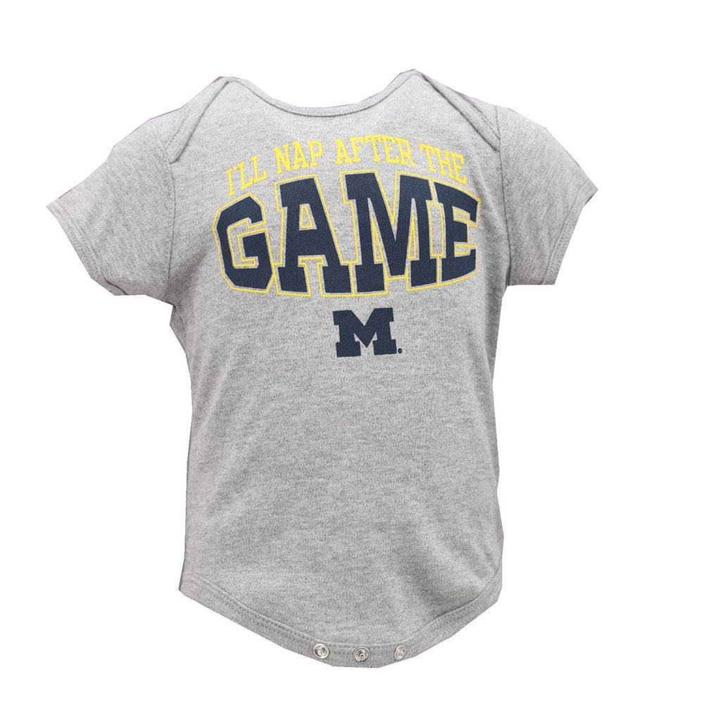 66b06d5f NCAA Official Michigan Wolverines Baby Infant Size Creeper Bodysuit New Tags