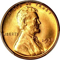 Lincoln Cent (Wheat Reverse), 1936 MS - PCGS Auction Prices