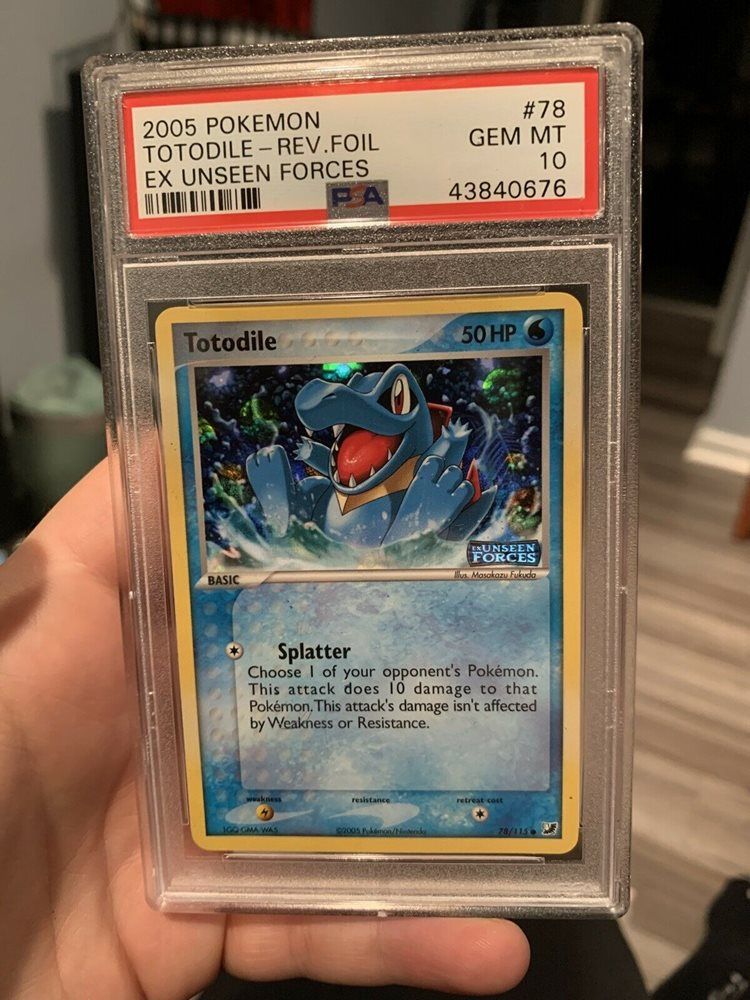 POKEMON CARD TOTODILE 78//115 EX unseen forces