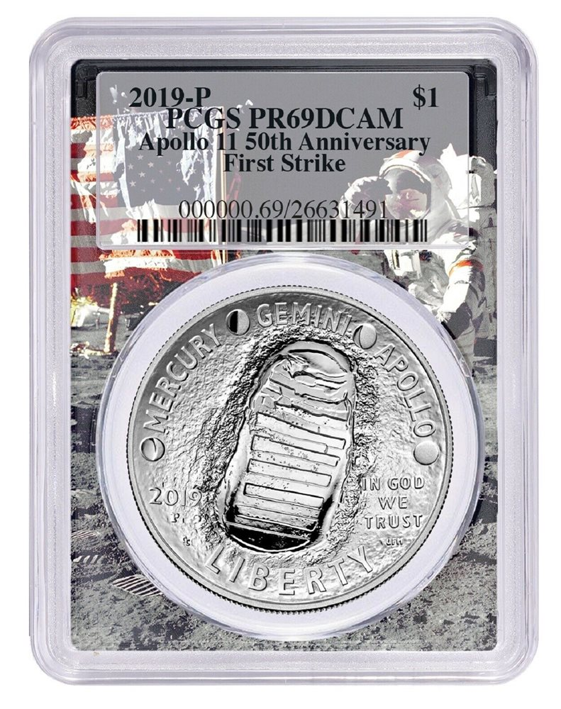 2019-W Proof $1 American Silver Eagle PCGS PR69DCAM First Strike Apollo Frame