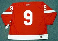 a760da147ab GORDIE HOWE Detroit Red Wings 1960's CCM Throwback Home NHL Hockey Jersey
