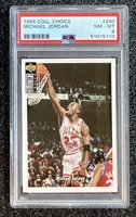 1994 Collector's Choice #240 Michael Jordan Chicago Bulls (HOF) PSA 8 NM-MT