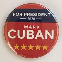Mark Cuban 2020 Presidential Hopeful Campaign Button (CUBAN-706)