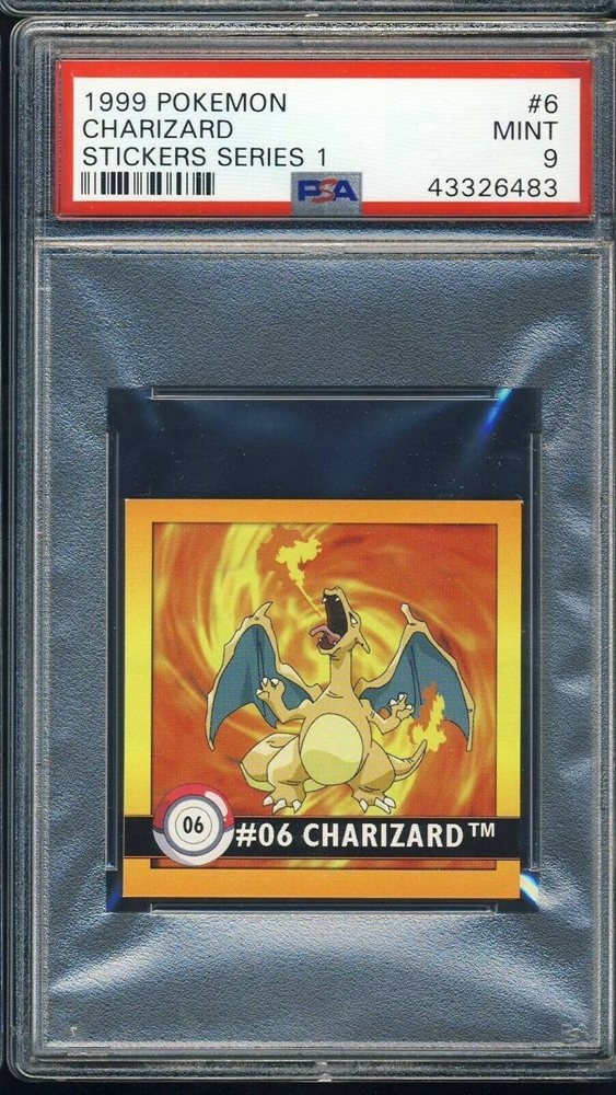 Auction Prices Realized Tcg Cards 1999 Pokemon Stickers Series 1 Charizard