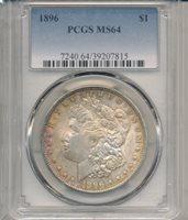 1896 DOLLAR PCGS 64
