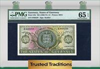 1 Pound 1969-75 Guernsey Caslte Cornet Pmg 65 Epq Gem Uncirculated
