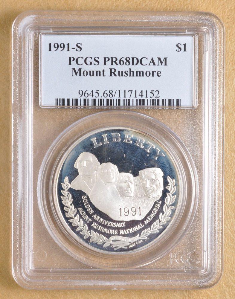 1991-S PCGS PR69DCAM Mount Rushmore Commemorative Half Dollar PR-69 DCAM
