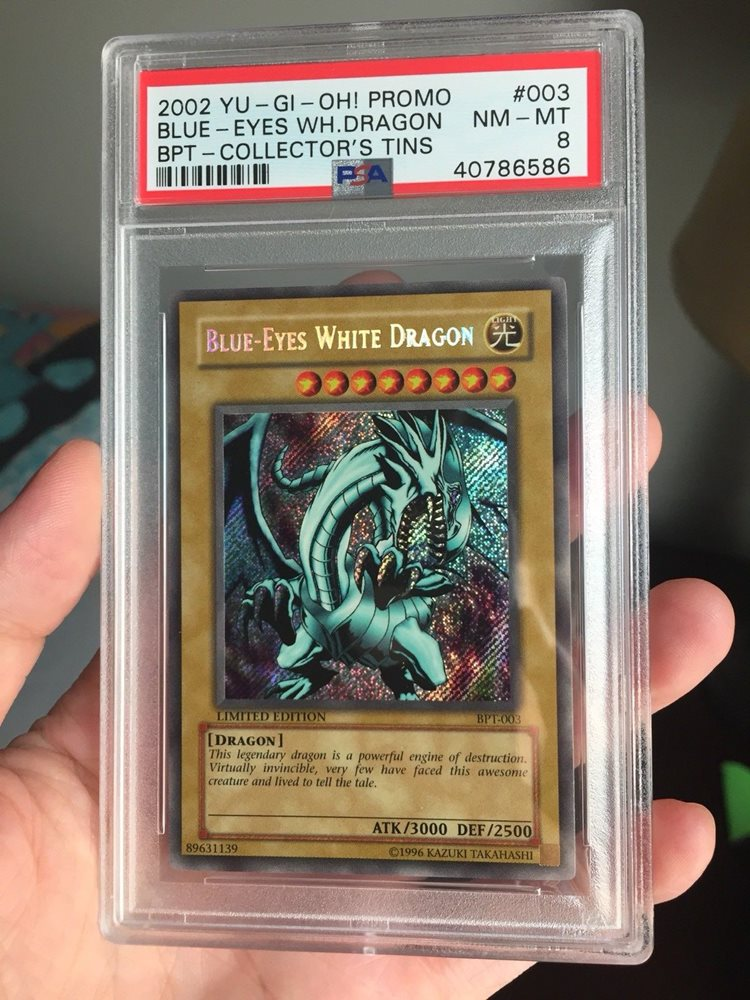 Cards Details about  /Yugioh 2002 Collector Tin with Blue Eyes White Dragon BPT-003