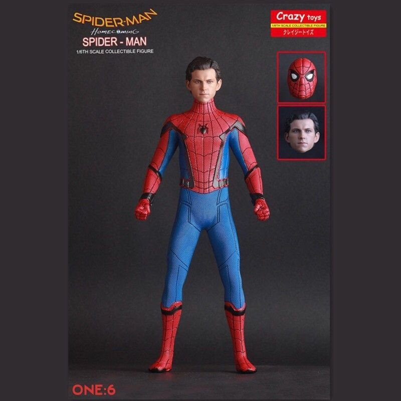 MAF Spider Man Homecoming The Spiderman Tom Holland Action Figure Toys