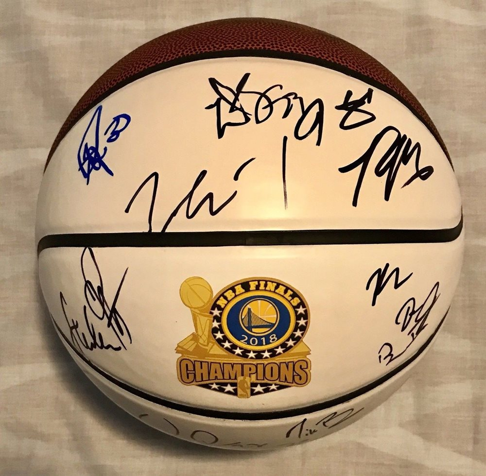 a451e74d8f356 2017/18 Golden State Warriors Team Autographed Signed Basketball Curry  Durant Green PSA/DNA Memorabilia