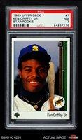 1989 Upper Deck #1 Ken Griffey Jr. PSA 7 - NM