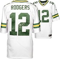69ed38bdd66 Aaron Rodgers Green Bay Packers Autographed Nike White Elite Jersey
