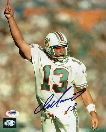 Dolphins Dan Marino Autographed 8x10 Photo Marino Holo   - PSA DNA  Certified - Signed. Click To Enlarge 5d0dd1dbe