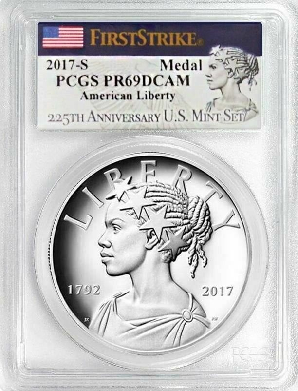 1st Day!!! S  Native American PCGS  SP70 Enhanced Unc 2017 set First Strike