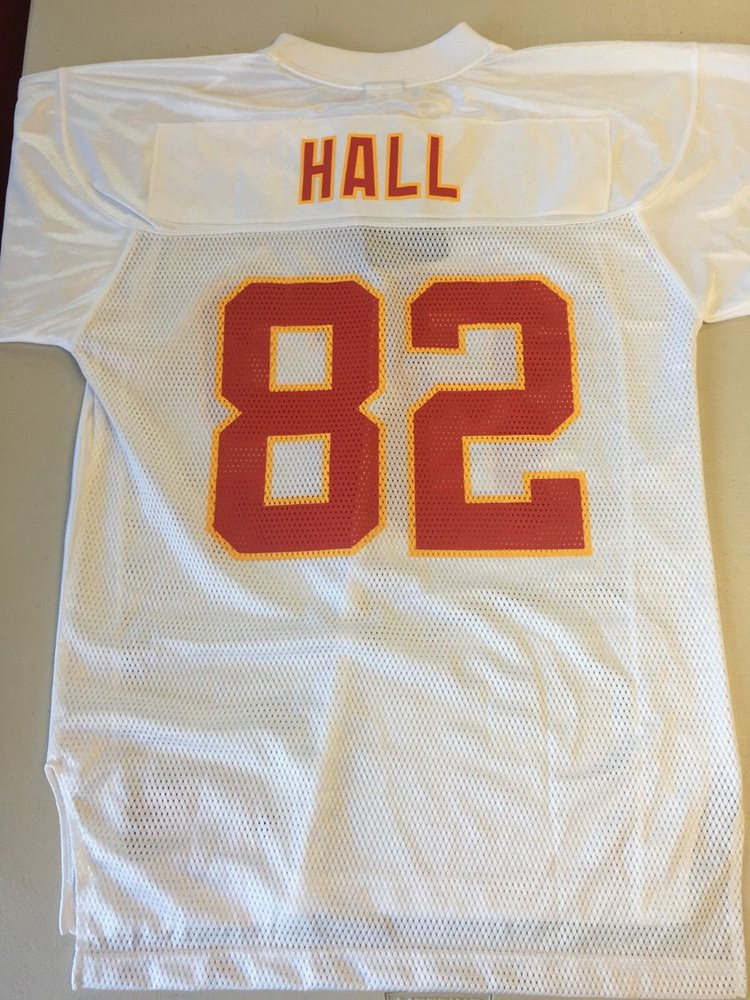 DANTE HALL #82 KANSAS CITY CHIEFS REPLICA REEBOK NFL WHITE JERSEY FREE SHIP