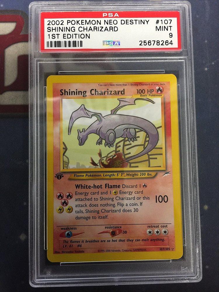 Pokemon Shining Charizard Psa Graded 9 107105 1st Edit