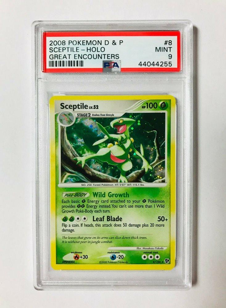 Pokemon Card Sceptile LV.52 Great Encounters 8//106 EXCELLENT Holo Rare TCG!!!!!!