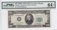 1950-B $20 Federal Reserve Note Chicago PMG CU 64 EPQ FR#2061-G G87467352B