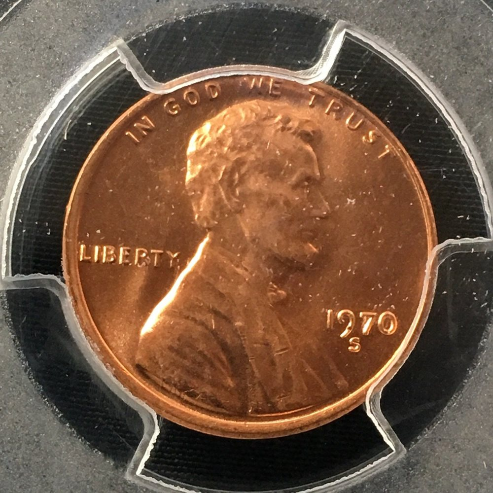 1970-S 1C Large Date RD Lincoln Cent BU