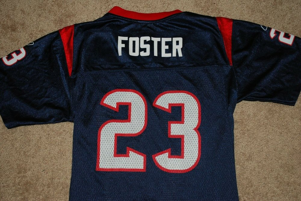 #23 Arian Foster Houston Texans Blue Reebok NFL Jersey (Youth Large)