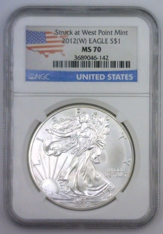2015 NGC American Silver Eagle MS70 First Releases Eagle Sticker White BU