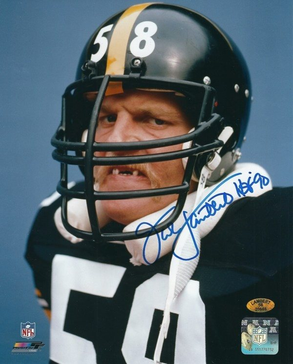 on sale 55fc1 01fac Autographed Signed Jack Lambert 8x10 Pittsburgh Steelers Photo - Certified  AuthenticCUSTOM FRAME YOUR JERSEY