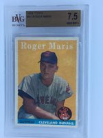 1958 Topps Roger Maris 47 Rc Rookie Bvg 75 Gold Label