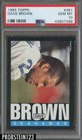 1985 Topps Football #381 Dave Brown Seattle Seahawks PSA 10 GEM MINT