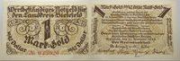 1 goldmark 28 November 1923 Das Papiernotgeld from Westfalen Landkreis Bielefeld