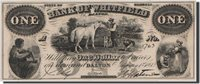1 Dollar 1860 Vereinigte Staaten Banknote