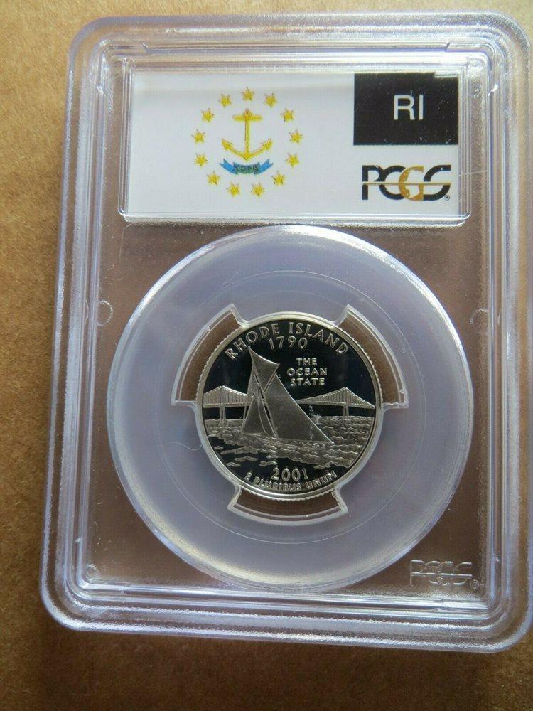 2001 S Washington Statehood Quarter Set of 5 Cameo Proof Set Coins
