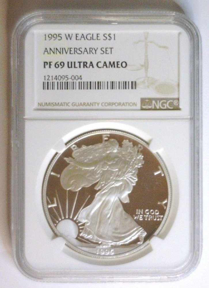 Brown Label 2017 W 1oz Silver Eagle Proof NGC PF69 Ultra Cameo