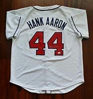 Hank Aaron Autographed Signed Jersey Atlanta Braves JSA
