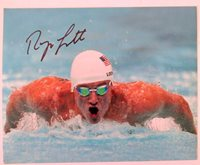 Ryan Lochte Autographed 8x10 Photograph